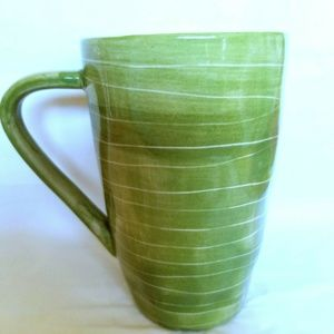 Starbucks 2008 Green Leaf Stripes Bamboo 14 Oz